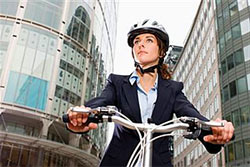 woman taking exercise break from work